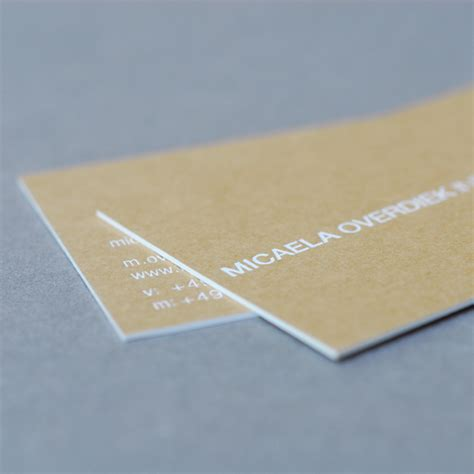 Visitenkarten Kraftpapier by Visitenkarte Kraftpapier Feiner Pr 228 Gedruck Aus