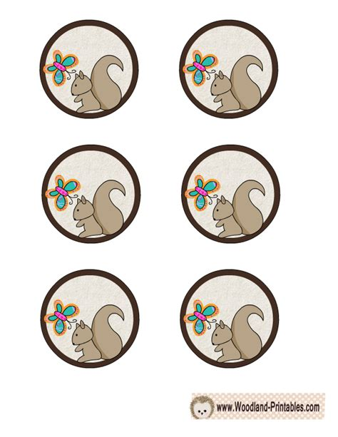 printable cake toppers free printable woodland creatures cupcake toppers