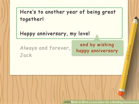 how to write a letter for a wedding anniversary