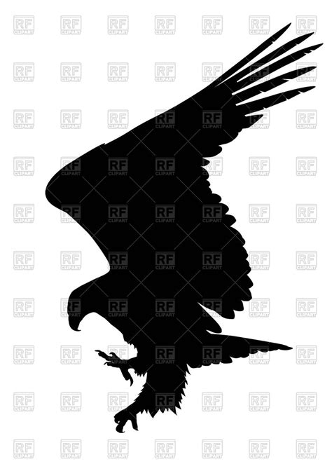 royalty free clip silhouette of eagle royalty free vector clip