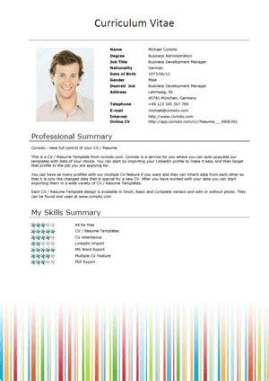 model cv american free resume templates stripes comoto