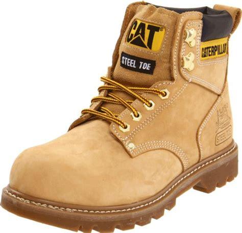 Sepatu Boots Caterpillar Bishop Steel Toe Brown Safety Ujung Besi caterpillar s second shift steel toe work boot