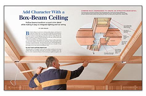 Diy Box Beam Ceiling by Add Character With A Box Beam Ceiling Homebuilding
