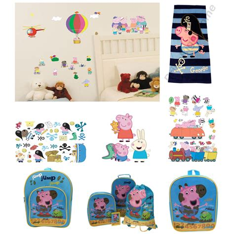 pig bedroom decor official peppa pig george bedding duvet cover sets room