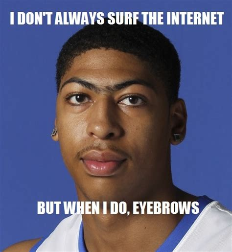 Eyebrows Meme Internet - bow to the brow i bleed blue uk wildcats pinterest