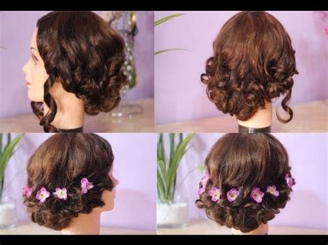 quick and easy evening hairstyles 2 quick and easy messy elegant updo for homecoming prom