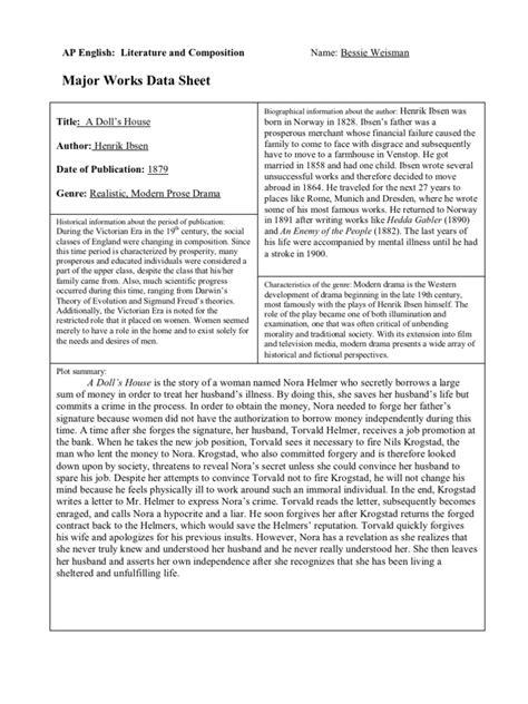 The Major Works major works datasheet 5