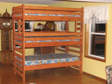 three bunk beds triple bunk beds