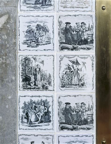 close view  rococo liverpool transfer fireplace tiles
