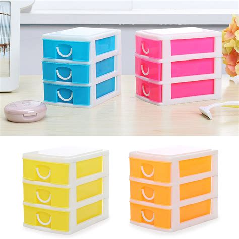 colorful drawer style storage box make up jewelry