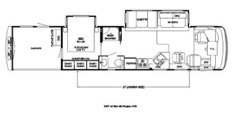 newmar rv floor plans 2007 newmar all star atme 4153 floorplan