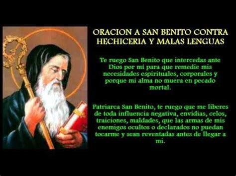 san alejo oracion para alejar malas lenguas enemigos oracion a san benito para alejar malas personas envidias