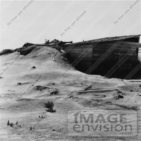 stock photography of an abandoned farm in the dust bowl