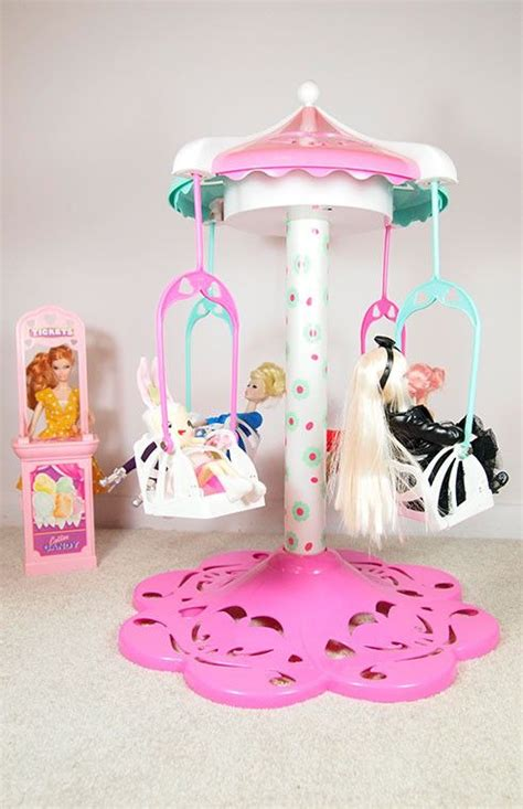 barbie swing barbie carnival swing ride with ticket booth 52 25 via