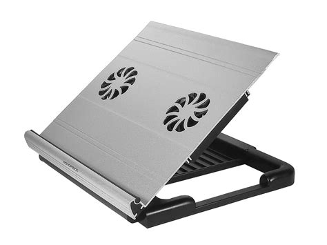 fan with ac built in adjustable aluminum laptop riser cooling stand w built in