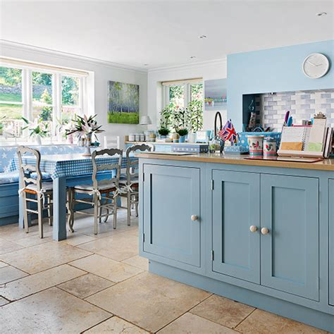 Decorating Ideas For Blue Kitchen Farmhouse Kitchen With Blue Cabinetry Decorating Ideal