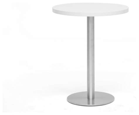 Small Bistro Table Indoor Baxton Studio Monaco Small White Modern Bistro Table Modern Indoor Pub And Bistro Tables