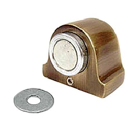 Door Stop Magnet Gomeo Diskon antique brass magnetic door stop floor mount