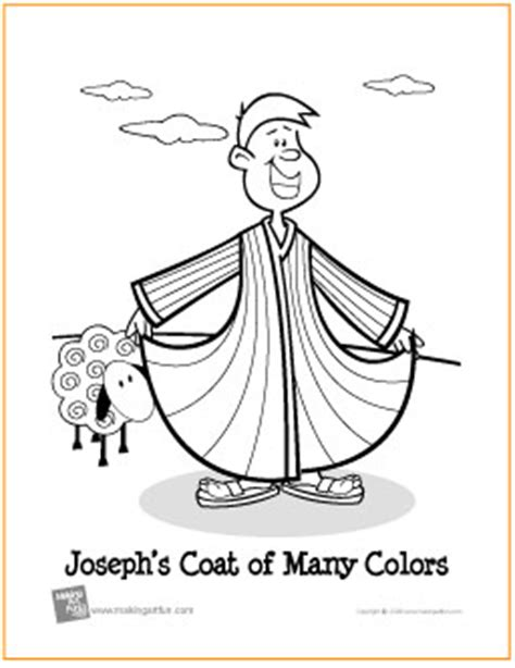 printable coloring pages joseph coat joseph s coat of many colors free printable coloring page