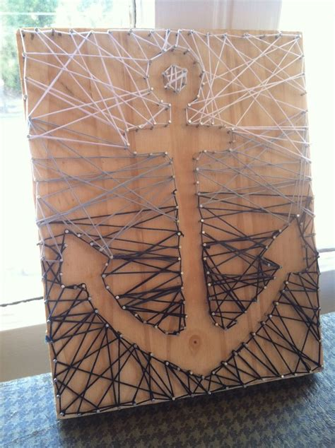 String Anchor - string just create design with nails on a