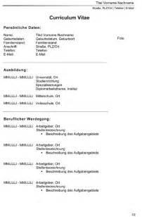 Lebenslauf Oesterreich Muster Lebenslauf Word Muster Lebenslauf 214 Sterreich 2016