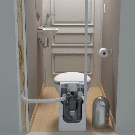basement up flush systems sanicompact self contained upflush toilet upflushtoilet