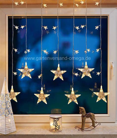 Weihnachtsdeko Fenster Led Vorhang by Led Sternenvorhang Warm Wei 223 Led Fenstervorhang
