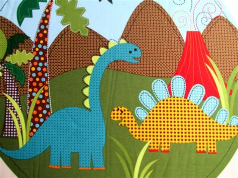 quilt fabric panel dino dinosaur fabric m miller pillow