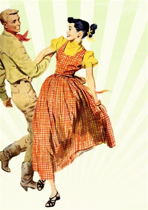 Free Illustration Retro Dancing People Old Free