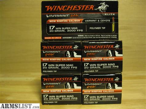 17 Winchester Super Mag Able Ammo | armslist for sale 17 wsm or 17 winchester super mag