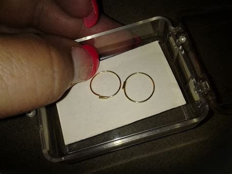 Self Piercing Sleeper Earrings by 14k Self Piercing Hoop Earrings Collectors Weekly