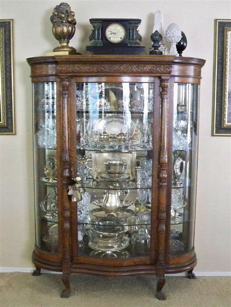 Antique Silver and Crystal display curio   Vitrine   Pinterest   Antique silver, Display and