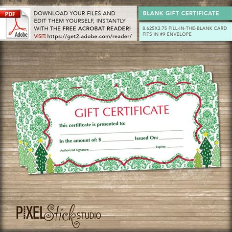printable do it yourself gift certificates 17 best images about pixelstick studio etsy com on