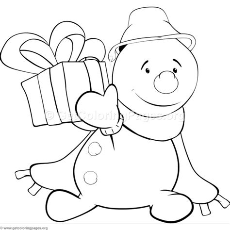 cute snowman 3 coloring pages getcoloringpages org