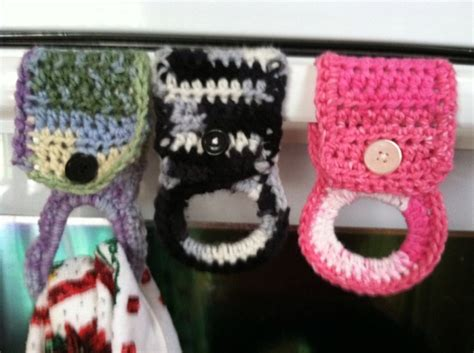 crochet tea towel holders free pattern could make a good