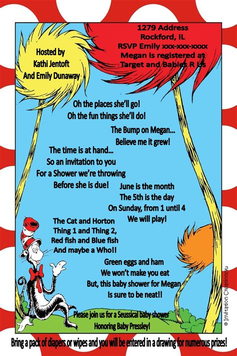 Dr Seuss Baby Shower Poems by Dr Seuss Quotes Baby Quotesgram