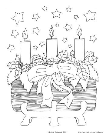 Yule Coloring Pages printable the yule log wired