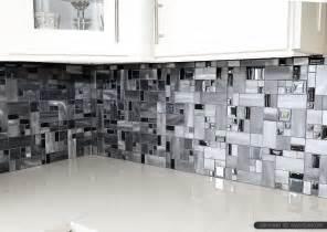 Modern black glass metal backsplash tile backsplash com