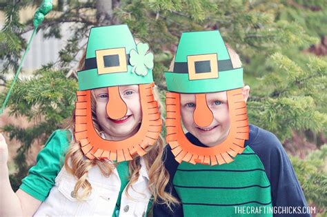 leprechaun mask template st s day craft archives the crafting