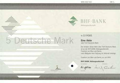 bhf bank ag hwph ag historische wertpapiere bhf bank