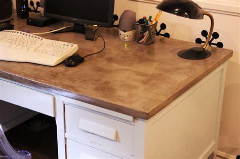 diy desk top wood diy concrete desktop a by tutorial