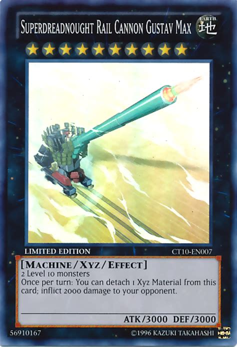 Kartu Yugioh Superdreadnought Rail Cannon Gustav Max Common for extraordinary duelist card of the week gagaga