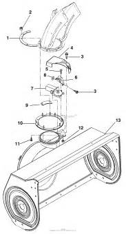 ariens 924505 000101 st1332 13hp tec 32 quot blower parts diagram for electric discharge chute