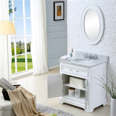 Bathroom Vanities Solid Wood Construction Derby 24 Inch Traditional Bathroom Vanity Solid Wood Construction White Finish