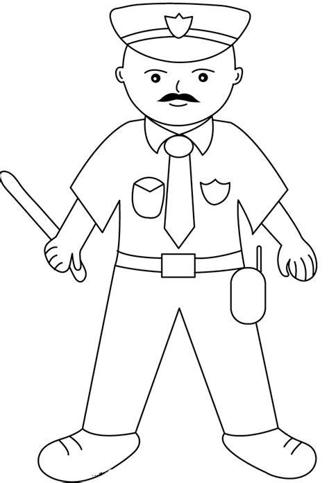policeman coloring pages for kids az coloring pages