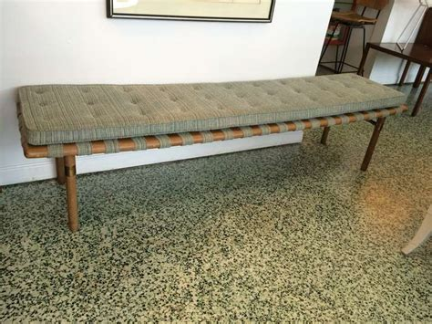 Low Upholstered Bench Widdicomb Style And Low Upholstered Bench At 1stdibs