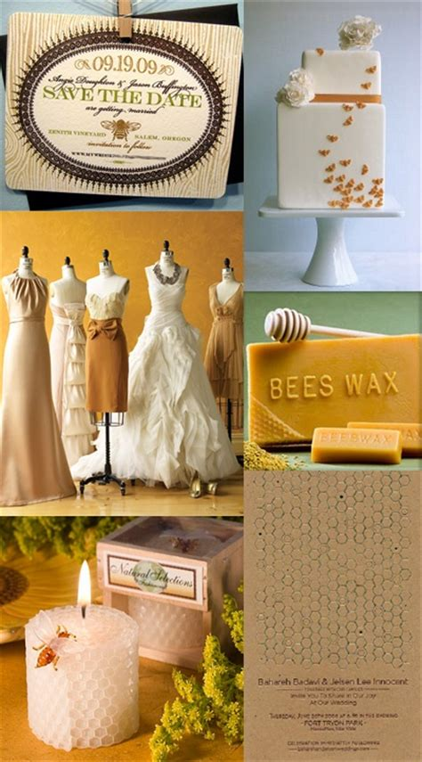 honey and pecan color palette for a wedding that is truly meant to bee receptions colors