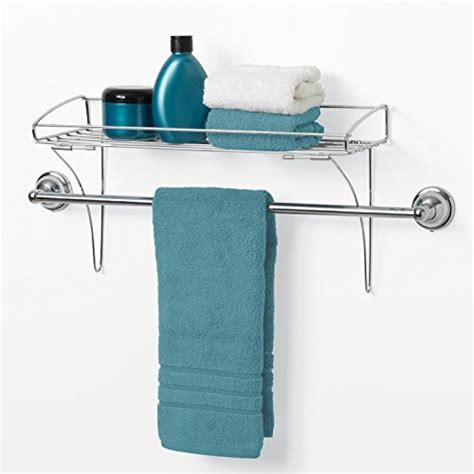 Towel Rack Without Drilling zenna home 7661ss the towel bar shelf chrome