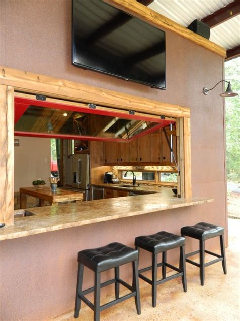 Indoor Outdoor Kitchen Designs Indoor Outdoor Bar Rustic Patio Dallas By Wright Built