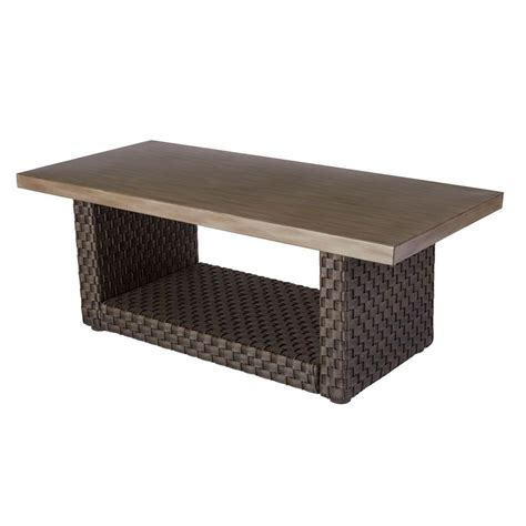 Outdoor Coffee Table Hton Bay Moreno Valley Patio Coffee Table Fws00590d The Home Depot